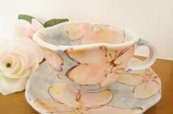 花柄ティーカップ&ソーサー